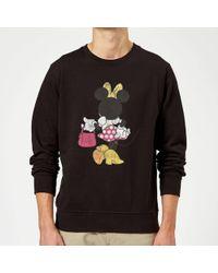 Disney Mickey Mouse Minnie Mouse Back Pose Sweatshirt - Gray