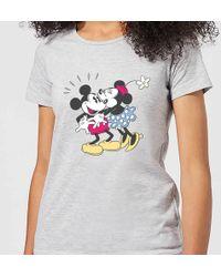 Disney - Mickey Mouse Minnie Kiss T-shirt - Lyst