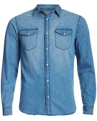 Jack & Jones Originals Rone Denim Shirt - Blue