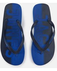 Jack & Jones - Jfwlogo Flip Flops Turkish Sea - Lyst
