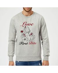 Disney Princess Snow White Love At First Bite Sweatshirt - Gray