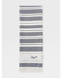 Ermenegildo Zegna Strandtuch aus baumwolle - Blau