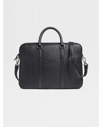 Ermenegildo Zegna Pelletessutatm Business Bag - Black