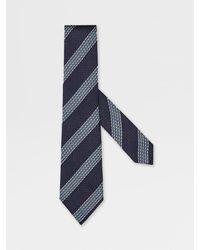 Zegna XXX Silk Tie - Blue
