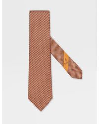 Ermenegildo Zegna Krawatte aus seide - Orange