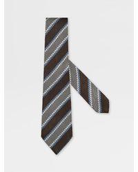 Zegna XXX Silk Tie - Brown