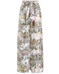 Zimmermann Botanica Wide Leg Trouser - Multicolor