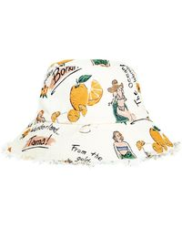 Zimmermann Frayed Bucket Hat - Multicolor