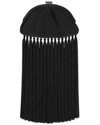 Zimmermann Velvet Fringe Pouch - Black