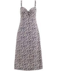 Zimmermann - Prima Cherry Tie Dress - Lyst