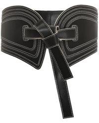 Zimmermann Topstitch Wide Waist Belt - Black