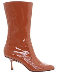 Zimmermann Patent Ankle Boot - Brown