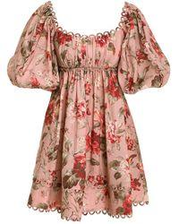 Zimmermann Cassia Scallop Mini Dress - Multicolor
