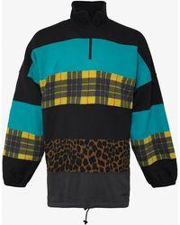 Balenciaga - Multipanel Fleece & Felt Sweatshirt - Lyst
