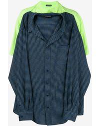 Balenciaga Green Tshirt Shirt - Blue