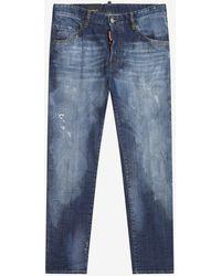 DSquared² Blue Distressed Skater Jeans