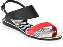 Nicholas Kirkwood Bicolor Leather Zigzag Sandals - Lyst