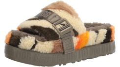 Ugg | Fluffita Cali Collage Slipper Для нее - зеленый