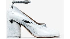 Maison Margiela | Women's Tabi Mary-jane Court Shoes - White