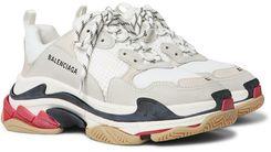 Balenciaga | Men's Triple S Leather And Mesh Sneakers - White