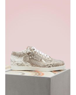 Miami Suede And Sequin Trainers