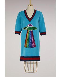 Sequin Ufo Cotton Dress