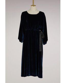 Silk Velvet Dress With String