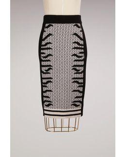 Wool Knee Lenght Skirt