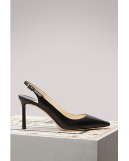 Erin 85 Leather Slingback Pumps