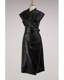 Wrap Leather Dress