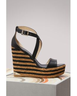 Portia 120 Leather Wedge Sandals