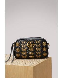 Gg Marmont Animal Studs Shoulder Bag