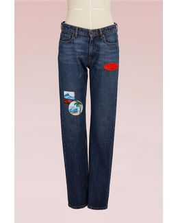 Cotton Straight Jean With Patches