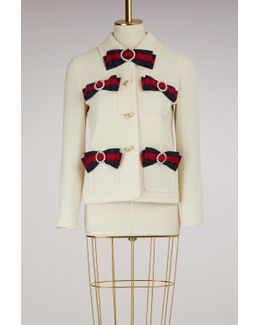 Tweed Jacket With Web Bows