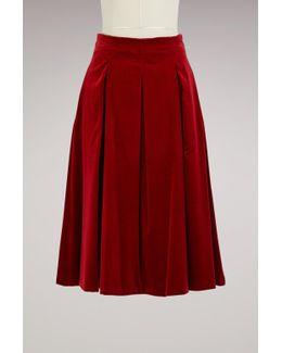Gioia Velvet Skirt