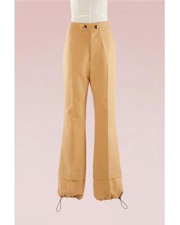 Crepe Straight-leg Pants