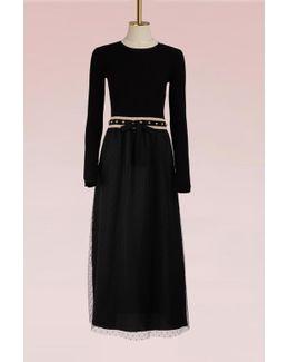 Tulle Studded Long Dress