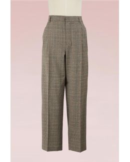 Tweed Cropped Trousers