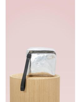 Metallic Zip Mini Cube Bag
