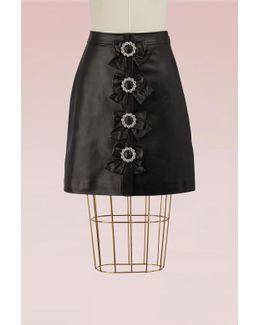 Plongè Leather Skirt