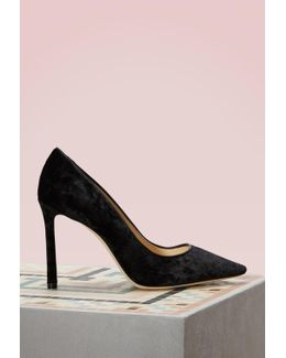 Romy 100 Crushed Velvet Pumps