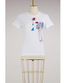 Iven Embroided Cotton T-shirt