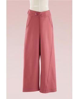 Wool-blend Wide-leg Pants