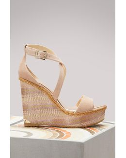 Portia 120 Suede Wedge Sandals