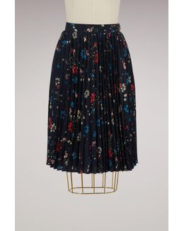 Fleur De Nuit Pleated Skirt