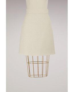 A-line Light Tweed Skirt