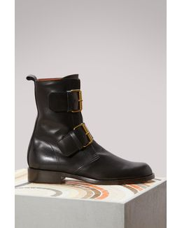Emerance Leather Ankle Boots