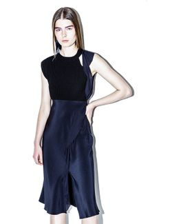 Two-tone Ruffle Dress