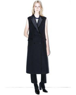 Sleeveless Tuxedo Coat