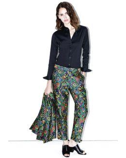 Floral Cloque Pencil Pant